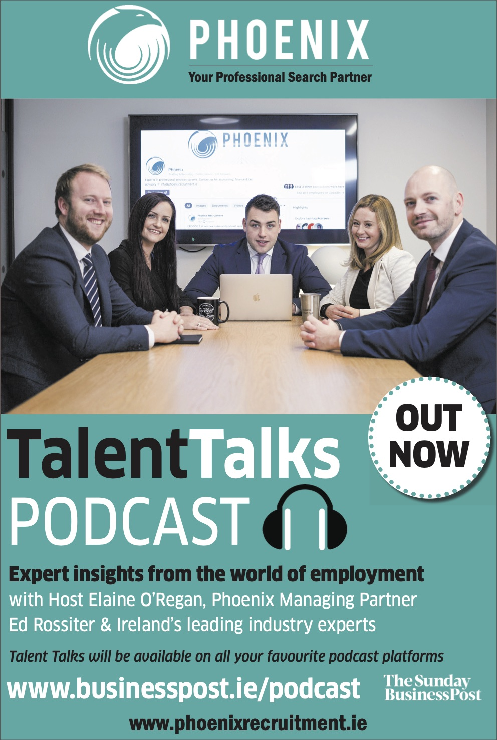 New Podcast Alert! Phoenix Talent Talks in partnership with the Business Post